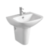 Wash Basin With Pedestal (CAILA WITH HALF PEDESTAL )