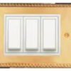 ROMA CLASSIC GOLD PLATES WITH WHITE FRAME , MODULE8 VERTICAL , 21929GD