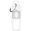 ROMA WHITE, KEY RING TAG ONLY