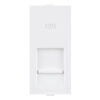 ROMA WHITE ONLY FRAME FOR CAT 5 WITH SHUTTER