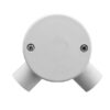 PRECISION PRCB 252AL Circular Box 2 Way Angle With Lid And Screw OD 25mm UPVC Pipe Fittings