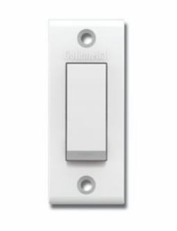 ESSENZA 6A & 10AX VALLEY SWITCHES- ONE WAY SWITCH -09109