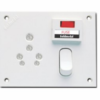 GoldMedal Capsule 5 in 1 Uni. Switch Socket Combined With Fuse & Indicator - GL159