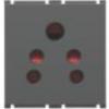 Goldmedal AURA 6A 2x1 Socket (2 module) 182037