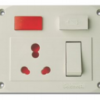 Goldmedal 16A Olive 5 In 1 Universal Switch Socket Combined With Fuse - GL632