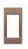 Goldmedal Curve 10AX Switch Cover Plates Wood 14177