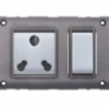 Goldmedal Curve gzifa 6&16A 3 in 1 Switch Socket Combined 14165