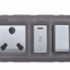 Goldmedal Curve gzifa 6&16A 5 in 1 Switch Socket Combined With Fuse & Indicator 14167